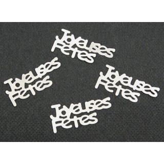 Confettis de table Joyeuses fêtes argent