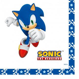 Serviette Anniversaire Sonic