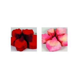Pétales de rose en tissu