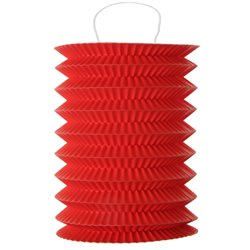 Lampion Accordeon Rouge x2