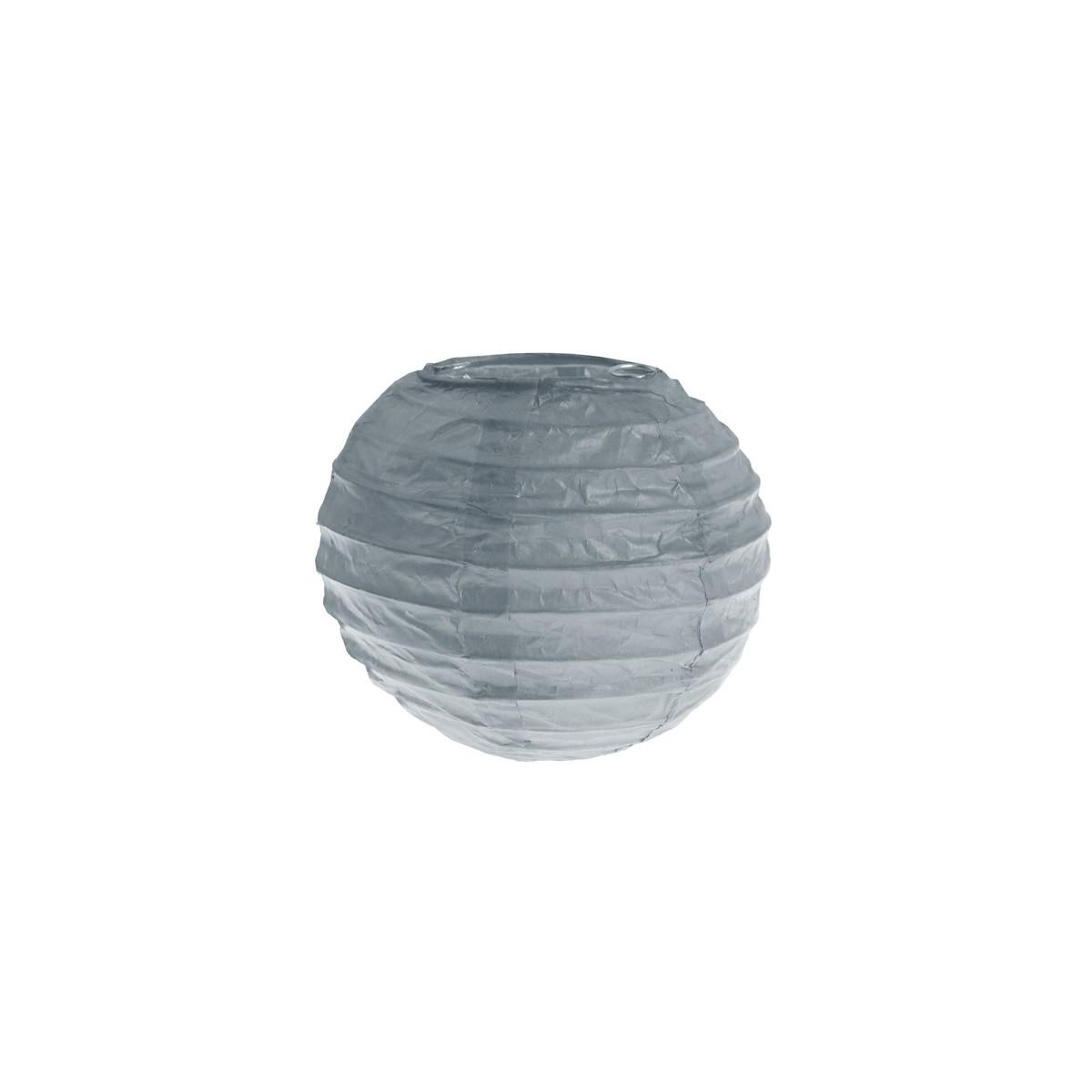 2x Mini Lanterne Papier 7.5cm - Gris