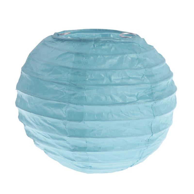2x Mini lanterne Papier 7.5cm  - Bleu Ciel