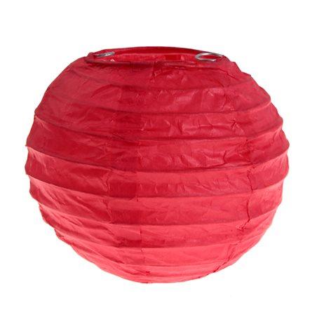 2x Mini Lanterne Papier 7.5cm - Rouge