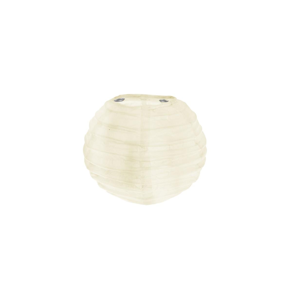 2x Mini Lanterne Papier 7.5cm - Ivoire
