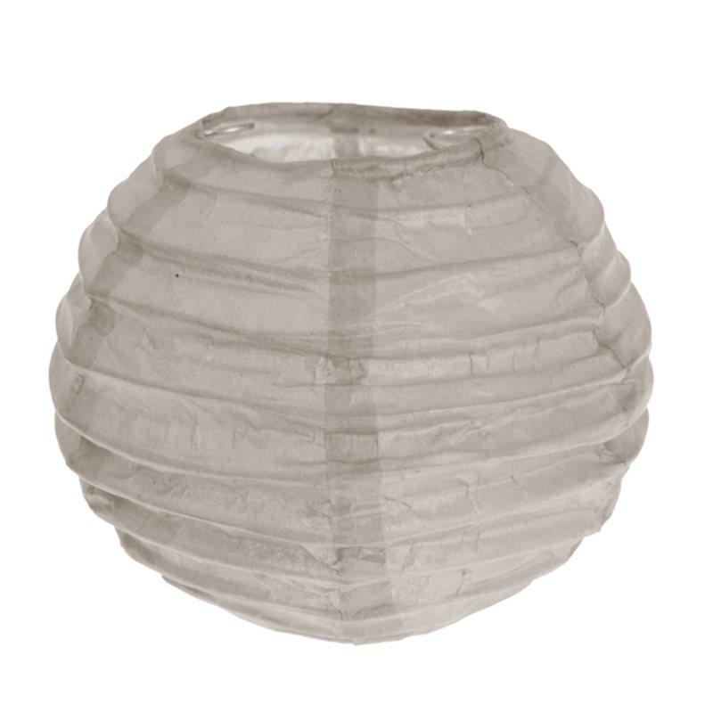 2x Mini Lanterne Papier 7.5cm - Taupe