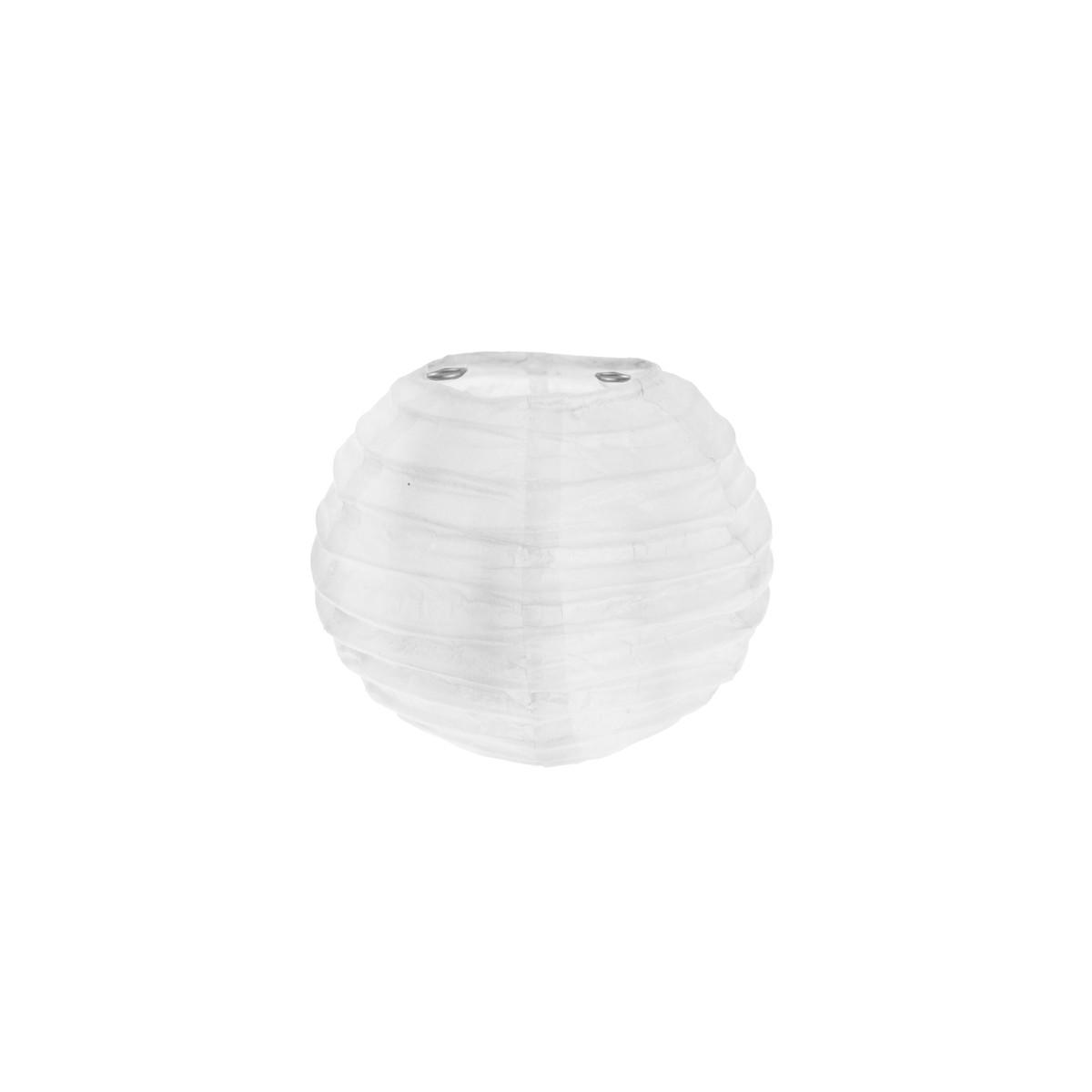 2x Petite Lanterne Papier 10cm - Blanc