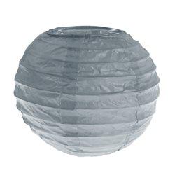 2x Petite Lanterne Papier 10cm- Gris
