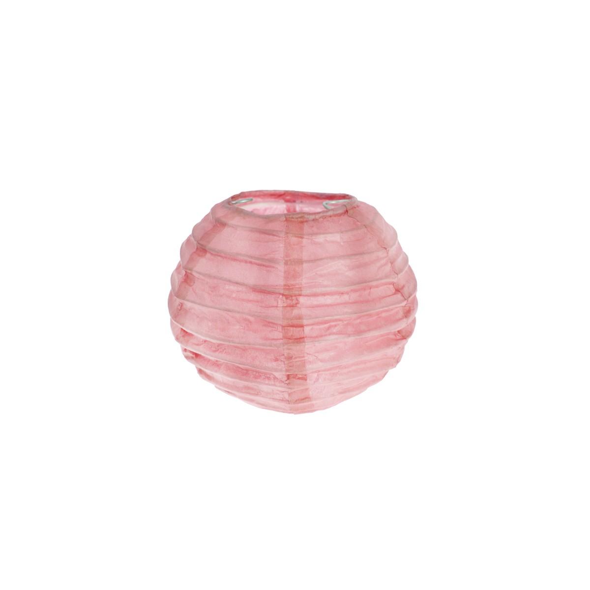 2x Petite Lanterne Papier 10cm - Rose