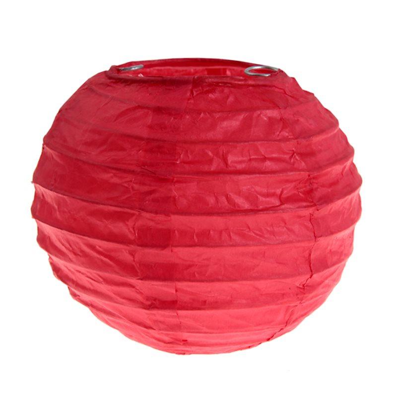 2x Petite Lanterne Papier 10 cm- Rouge