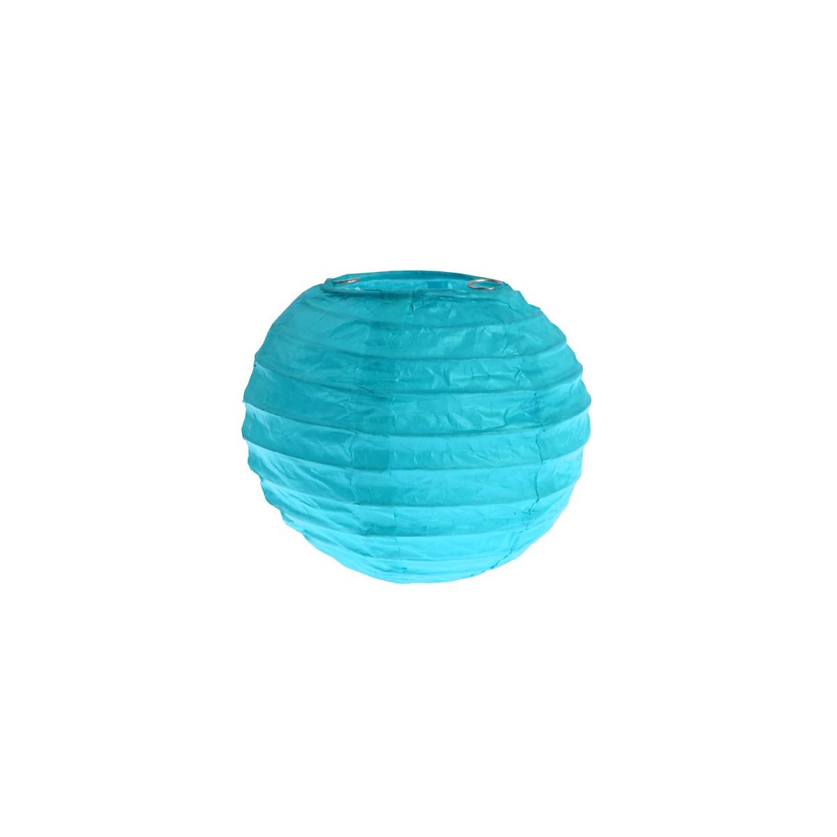 2x Petite Lanterne Papier 10cm - Turquoise