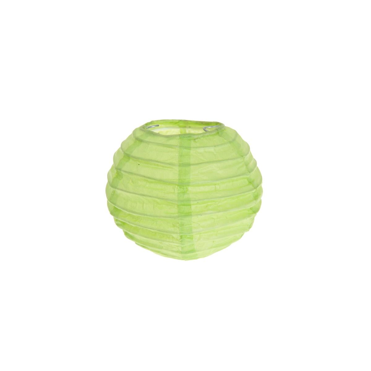 2x Petite Lanterne Papier 10cm - Vert