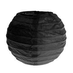 2x Petite Lanterne Papier 10cm - Noir