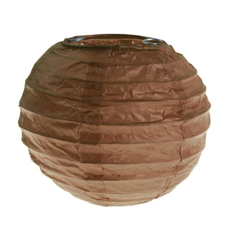 2x Petite Lanterne Papier 10cm - Chocolat