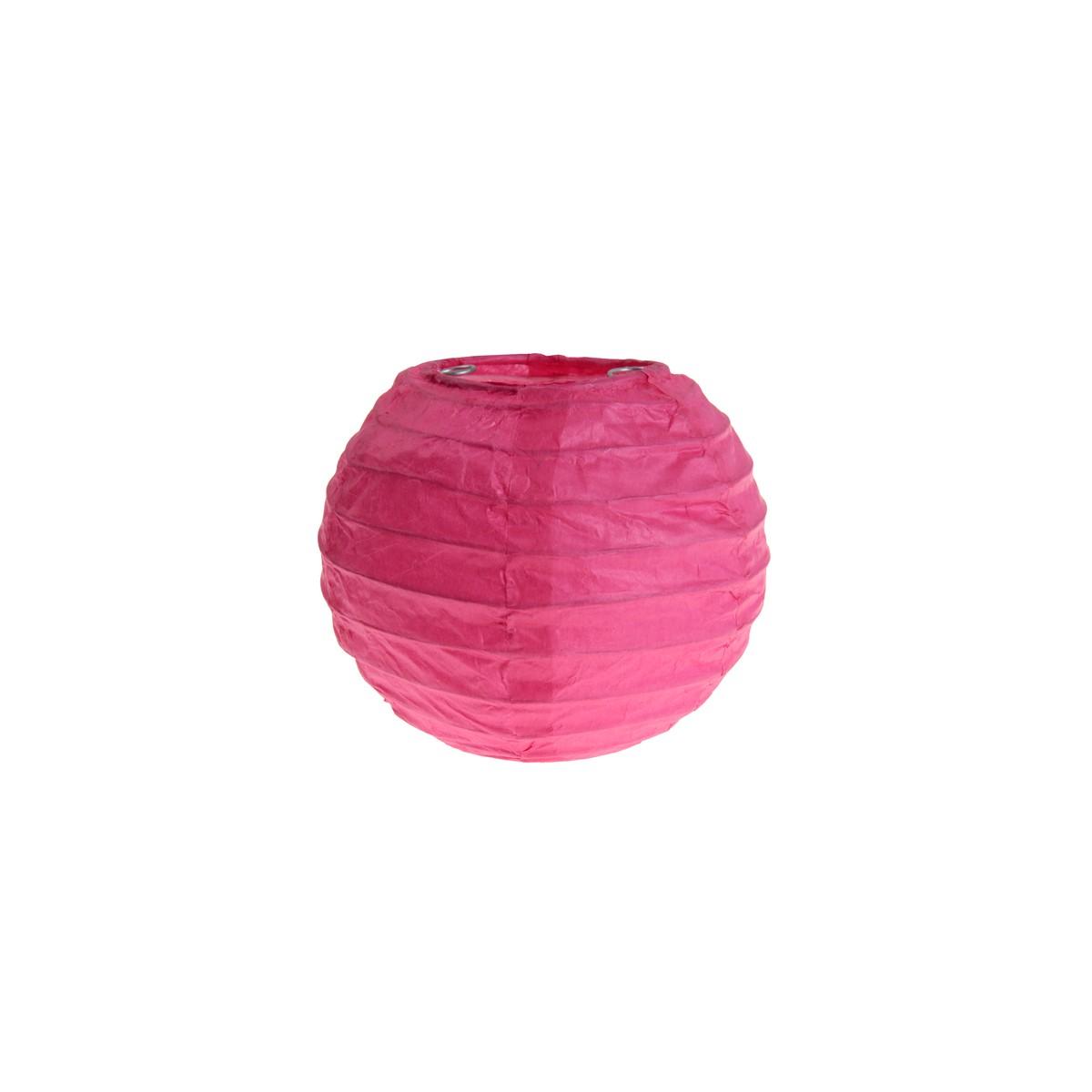 2x Petite Lanterne Papier 10cm - Fuchsia