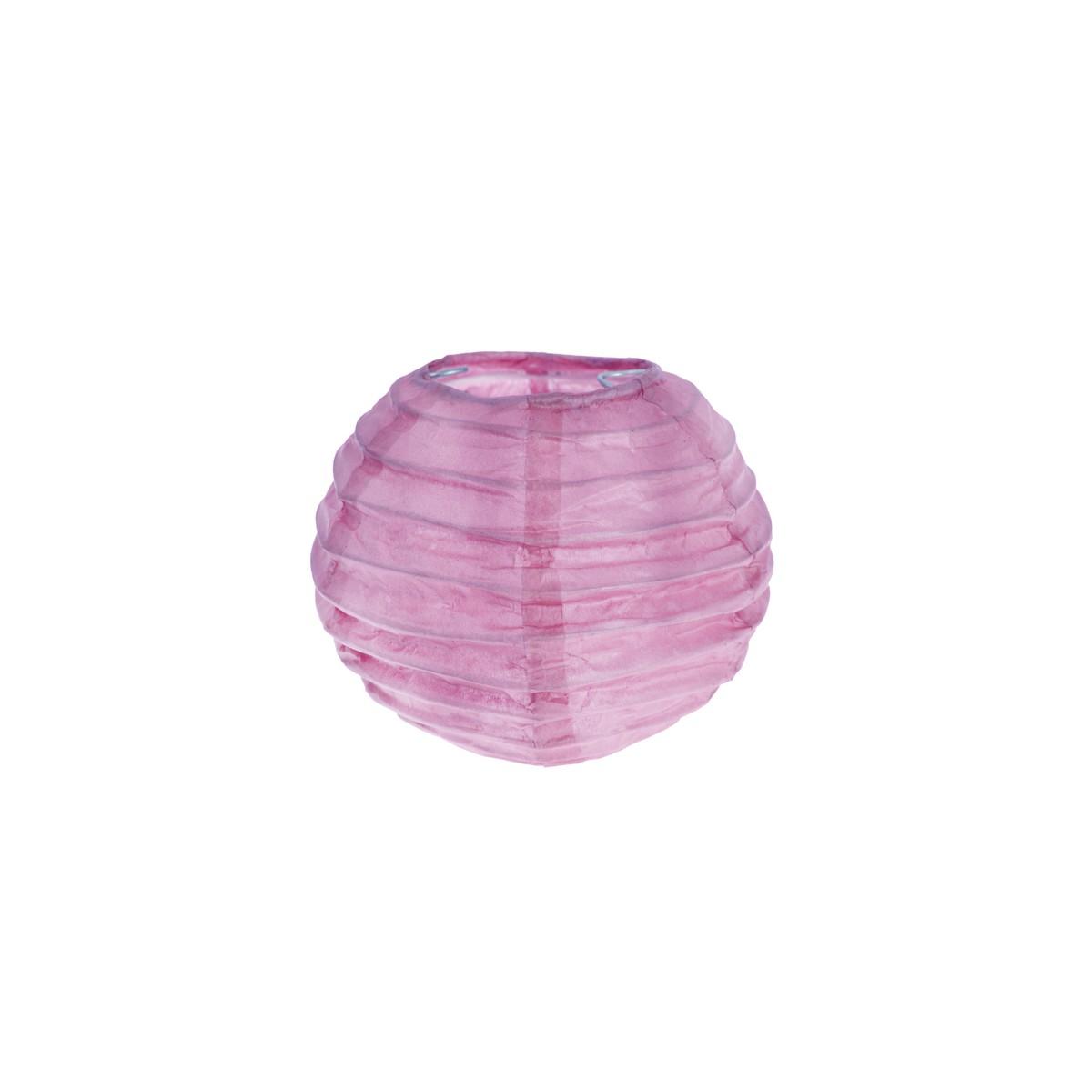 2x Petite Lanterne Papier 10cm - Parme