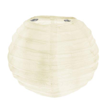 2x Petite Lanterne Papier 10cm - Ivoire