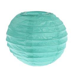 2x Petite Lanterne Papier 10cm - Menthe