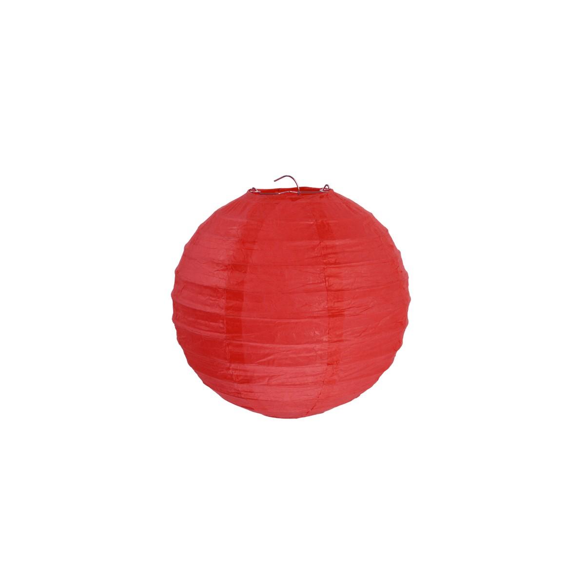 2x Lanterne Papier 20cm - Rouge
