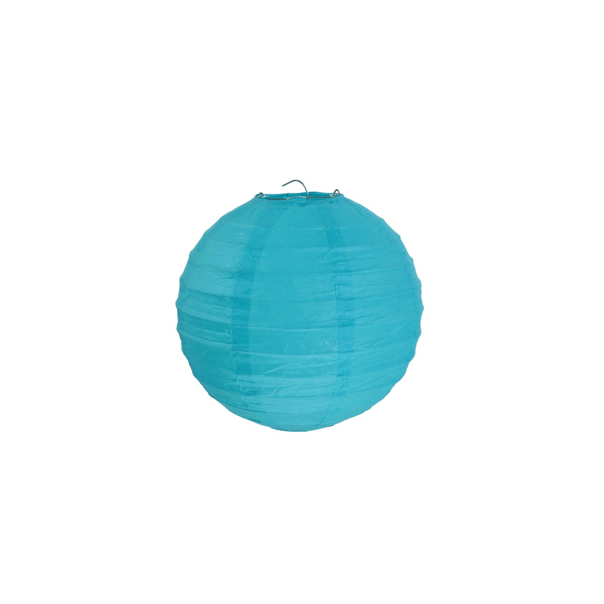 2x Lanterne Papier 20cm - Turquoise