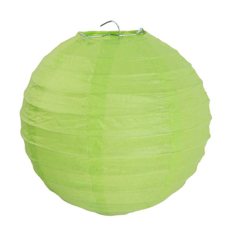 2x Lanterne Papier 20 cm - Vert