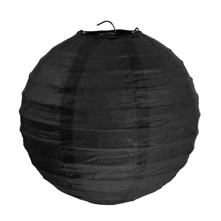 2x Lanterne Papier 20 cm - Noir