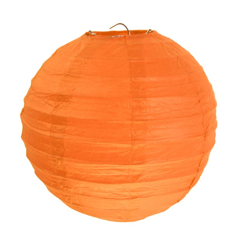 2x Lanterne Papier 20cm - Orange