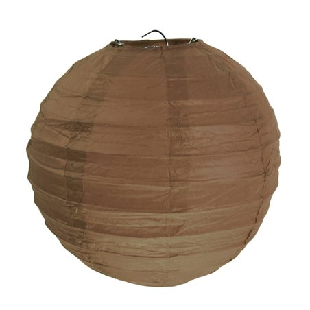 2x Lanterne Papier 20 cm - Chocolat