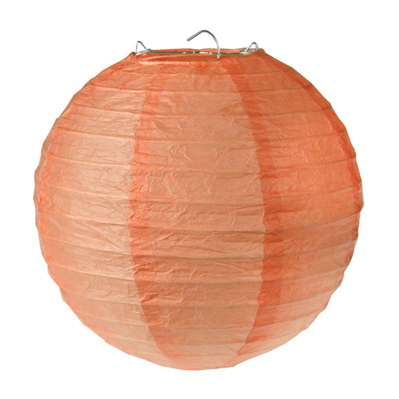 2x Lanterne Papier 20cm - Corail