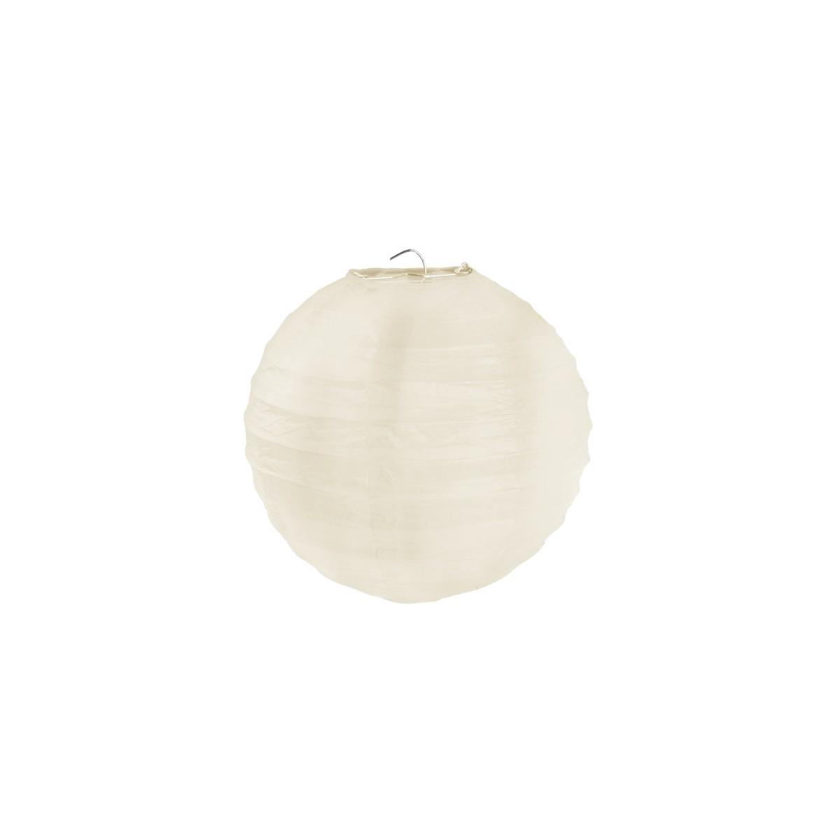 2x Lanterne Papier 20cm - Ivoire