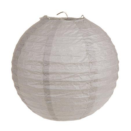 2x Lanterne Papier 20cm - Taupe
