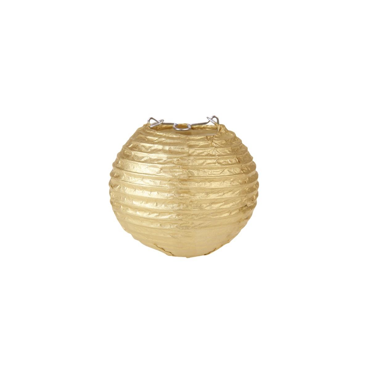 2x Mini Lanterne Papier 7.5cm - Or