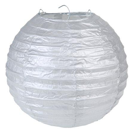 2x Lanterne Papier 20 cm - Argent