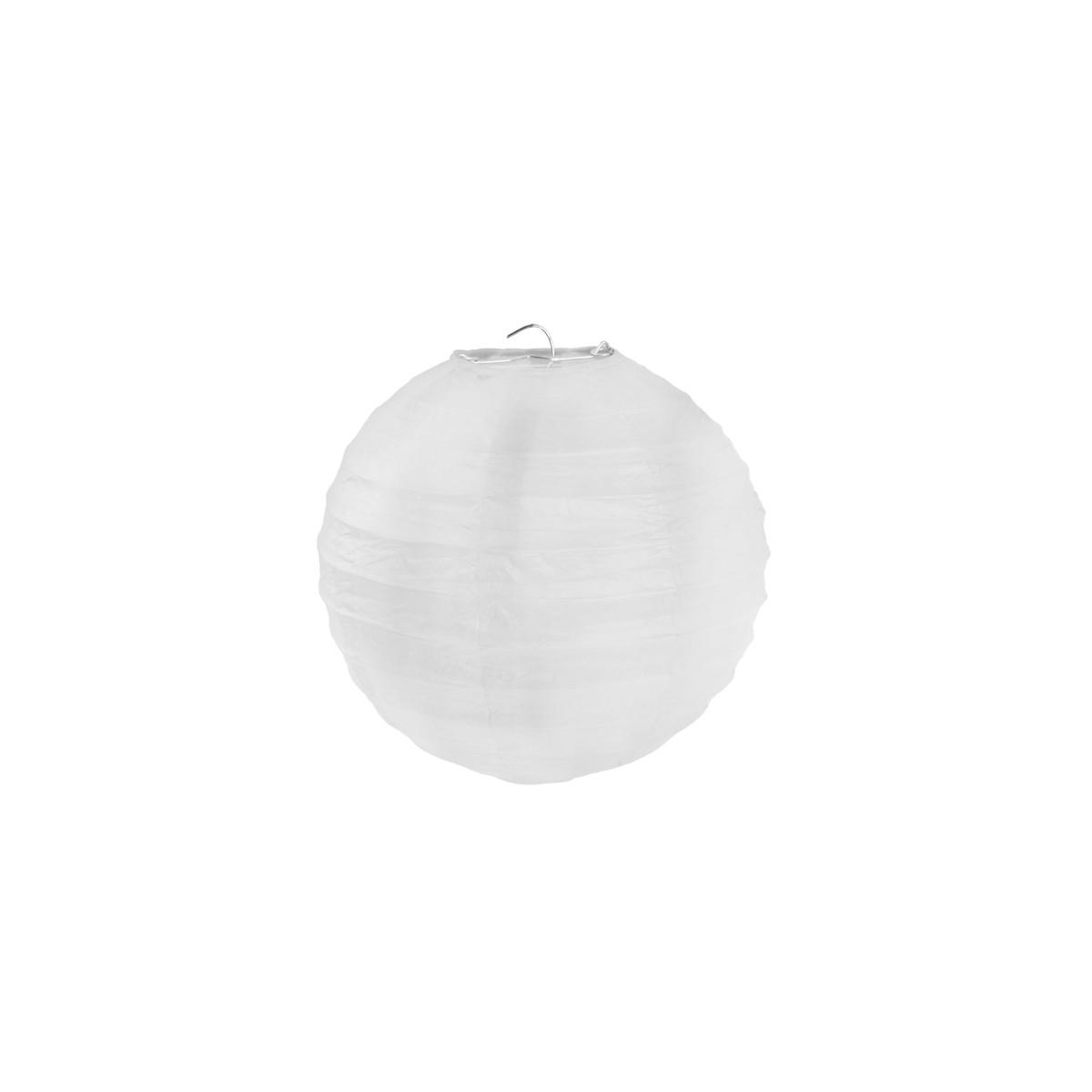 2x Lanterne Papier 30cm - Blanc