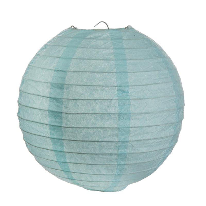 2x Lanterne Papier 30cm - Bleu Ciel
