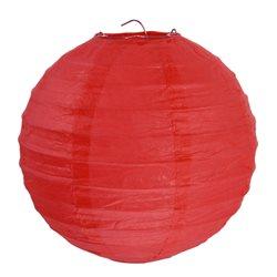 2x Lanterne Papier 30cm - Rouge