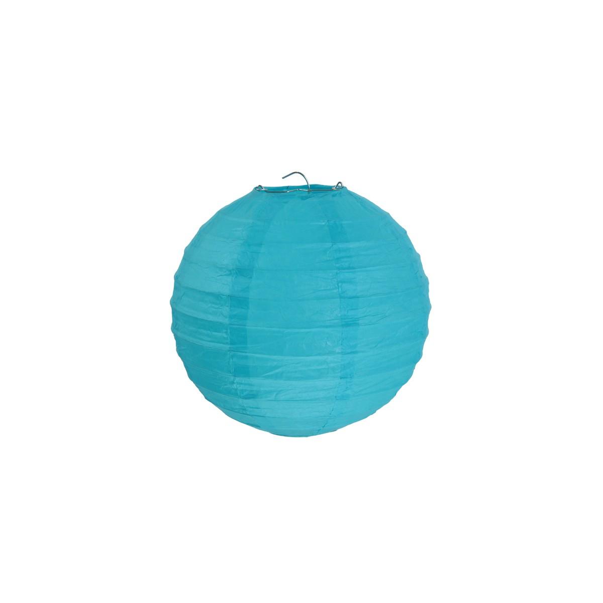 2x Lanterne Papier 30cm - Turquoise