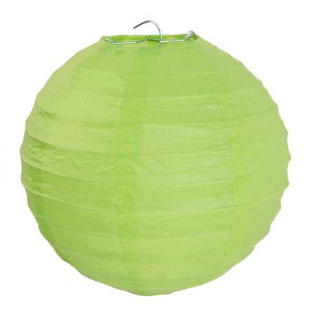 2x Lanterne Papier 30 cm- Vert