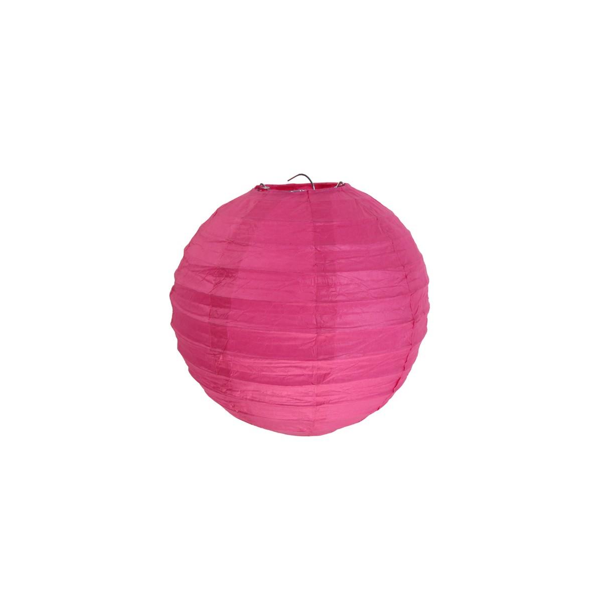 2x Lanterne Papier 30cm - Fuchsia
