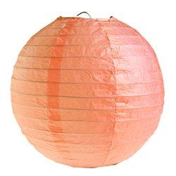 2x Lanterne Papier 30 cm - Corail