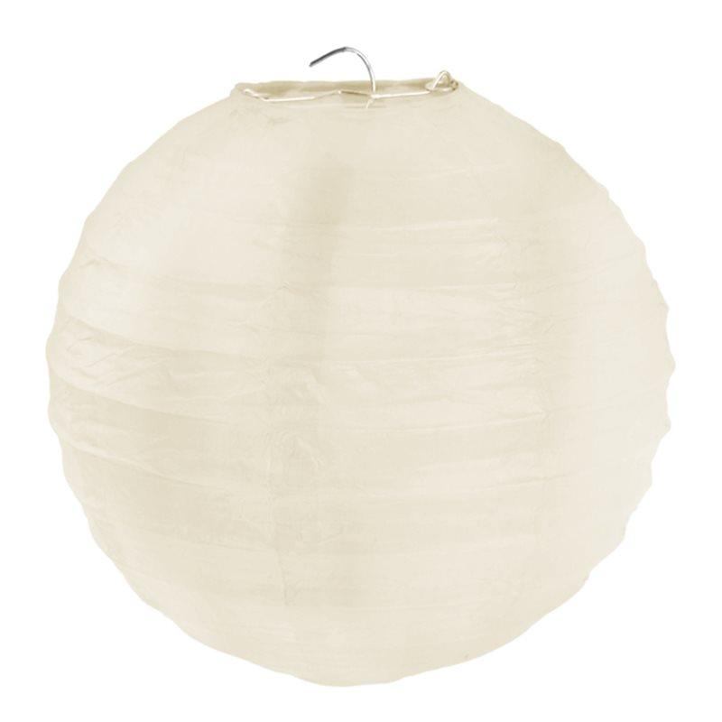 2x Lanterne Papier 30cm - Ivoire
