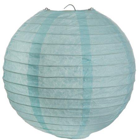 Lanterne Papier 50cm- Bleu Ciel