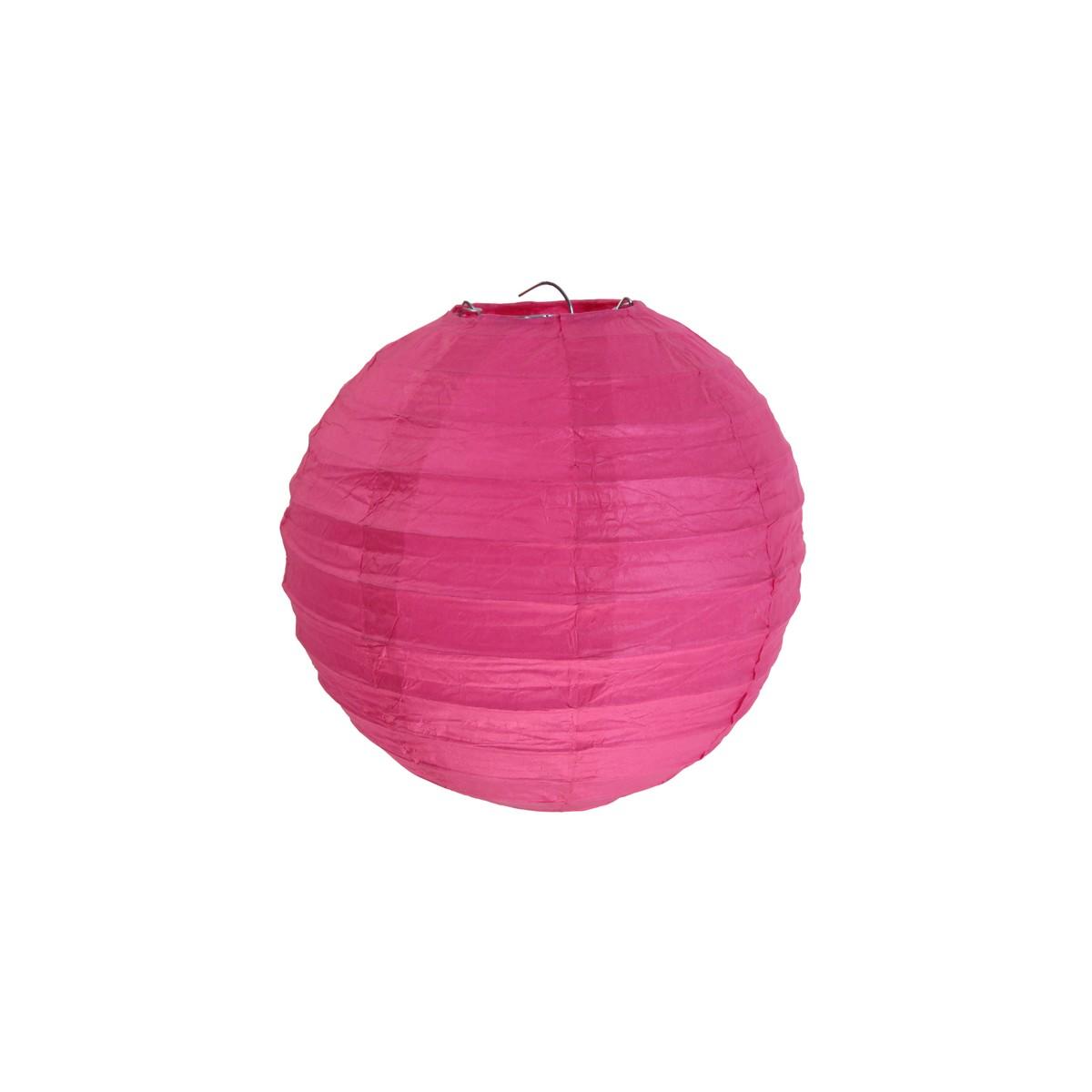 Lanterne Papier 50cm - Fuchsia
