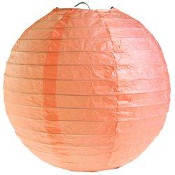 Lanterne Papier 50cm - Corail