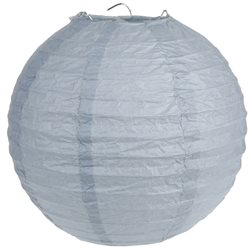 Lanterne Papier 50 cm- Gris