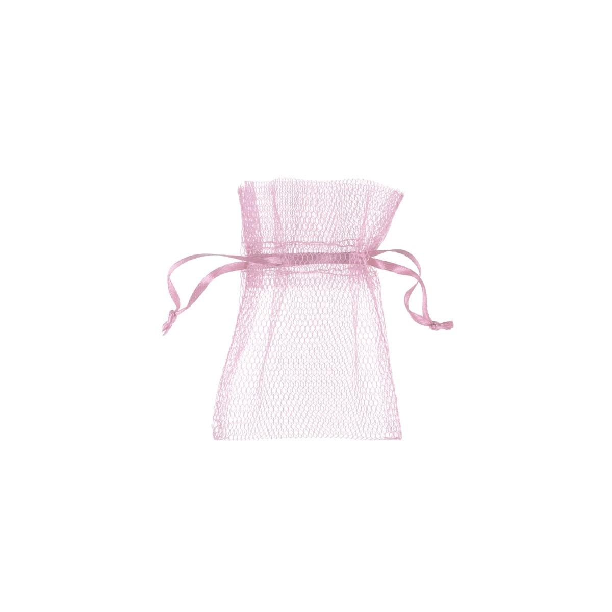 10x Sachet Dragées Tulle - Rose