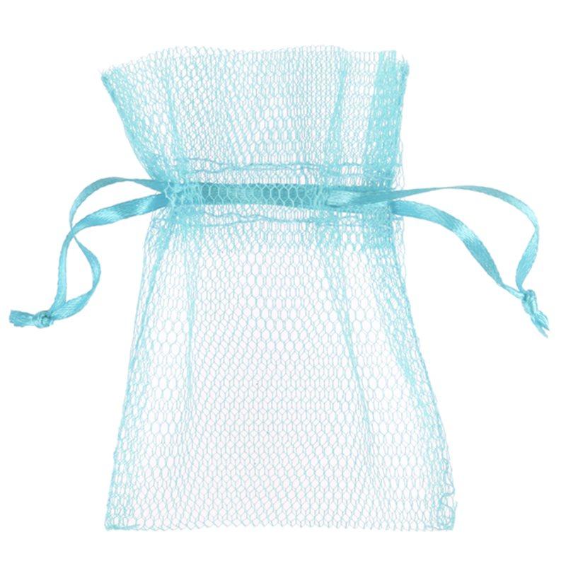 10x Sachet Dragées Tulle - Bleu