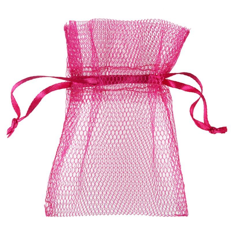 10 x Sachet Dragées Tulle - Fuchsia