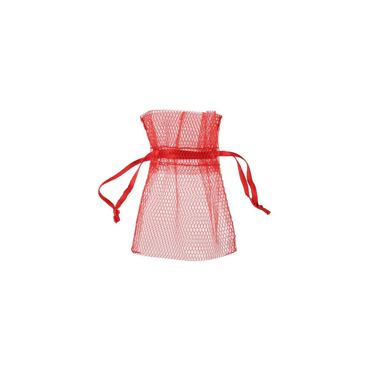 10 x Sachet Dragées Tulle - Rouge
