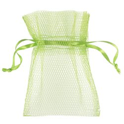 10x Sachet Dragées tulle - Vert