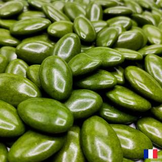 Dragées chocolat 70% vert sapin